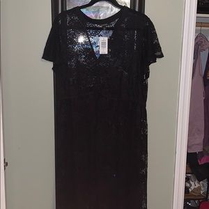 NWT Torrid  maxi high-low lace top